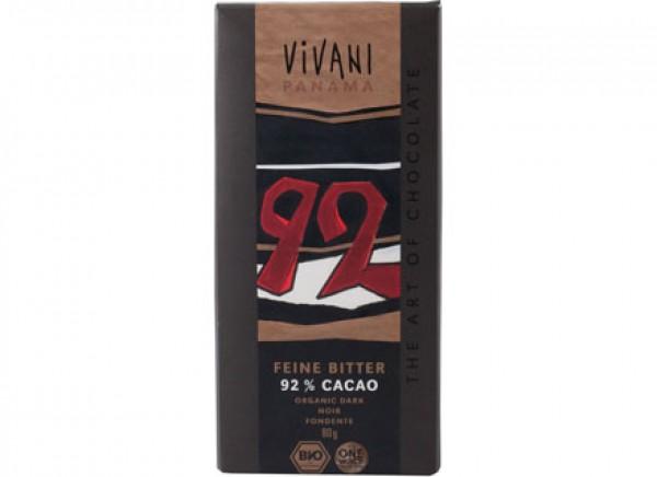 Cioccolato fondente 92% Panama 80g VIVANI