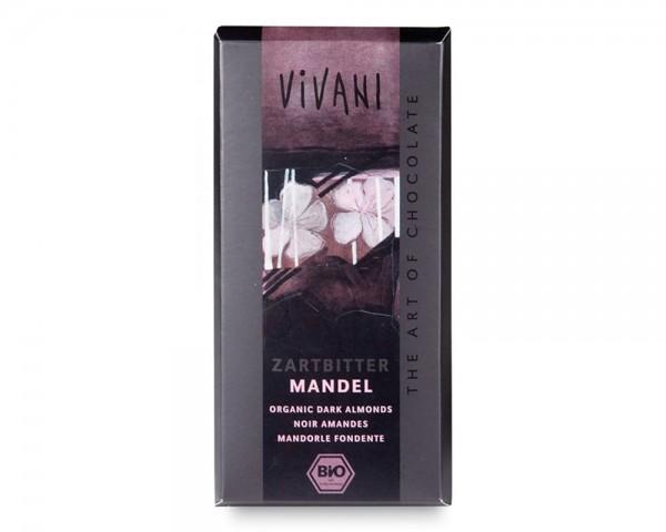 Cioccolato fondente con mandorle 100g VIVANI