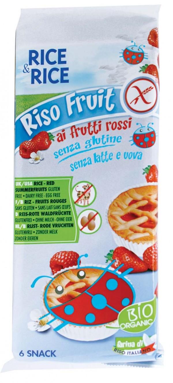 Crostatine di riso ai frutti rossi 6x33g RICE&RICE