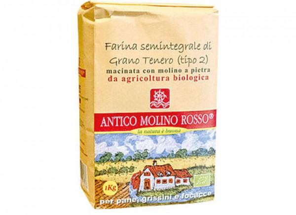 Farina di grano tenero semintegrale 1kg ANTICO MOLINO ROSSO