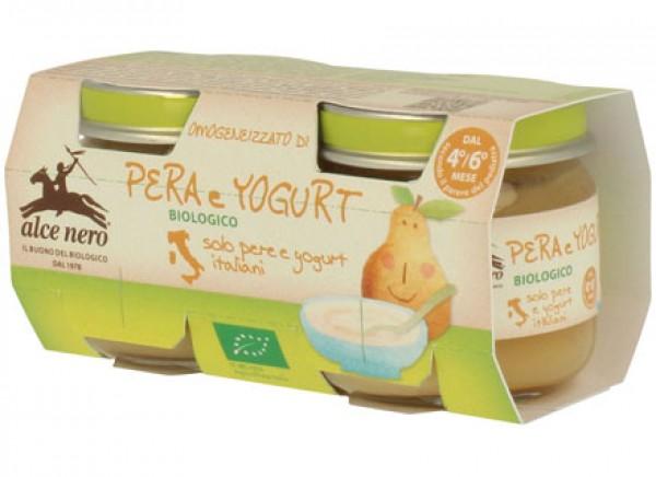 Omogeneizzato di pera e yogurt 2x80g ALCE NERO