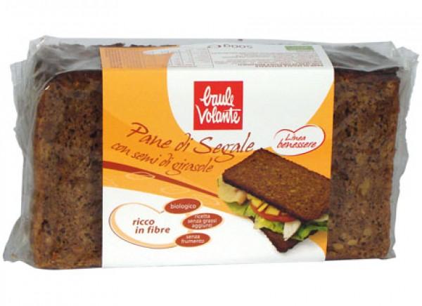 Pane di Segale integrale con semi di girasole - Linea Benessere 500g BAULE VOLANTE