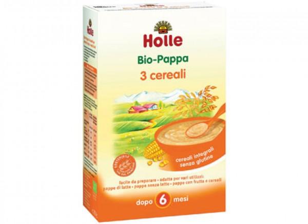 Pappa ai 3 cereali integrali: dopo i 6 mesi 250g HOLLE