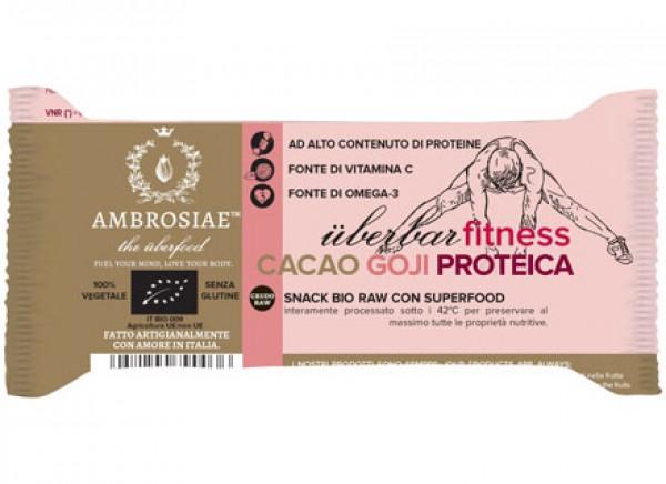 Uberbar fitness Choco Goji Proteica 35g AMBROSIAE