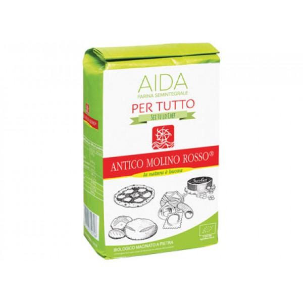 """Aida per tutto farina semintegrale tipo """"1"""" 1Kg ANTICO MOLINO ROSSO"""