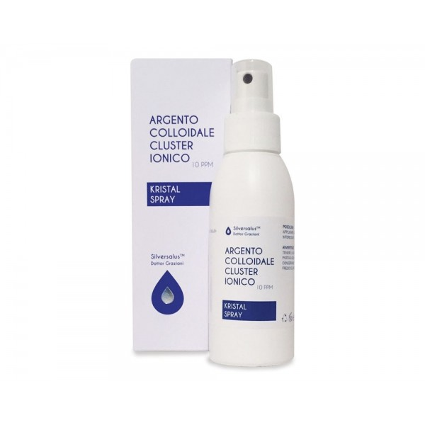 Argento Colloidale Cluster Ionico 10PPM Kristal Spray 100ml Silversalus
