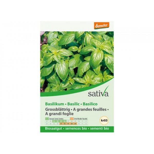Basilico grandi foglie 1,25g SATIVA