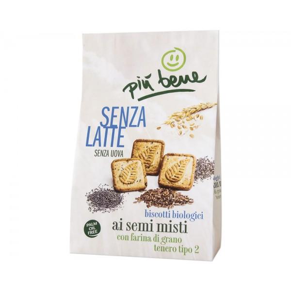 Biscotto Semintegrale Senza Latte ai semi misti 250g Più Bene