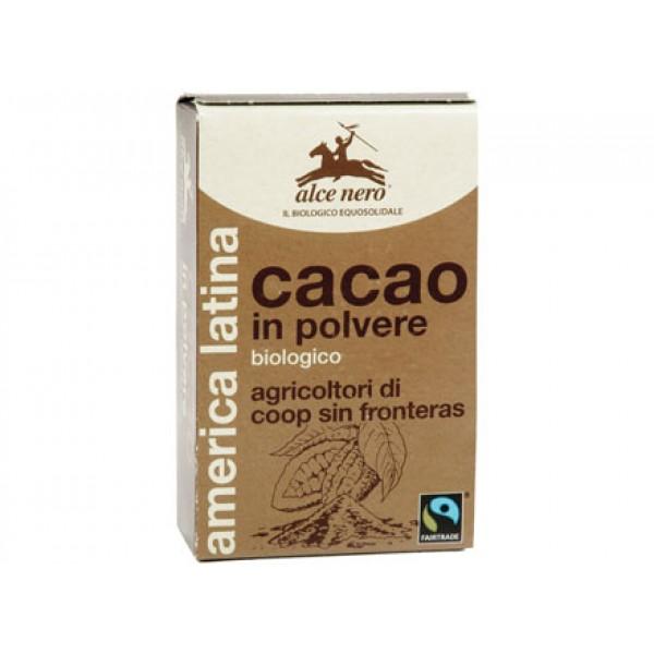 Cacao amaro in polvere senza zucchero 75g ALCE NERO