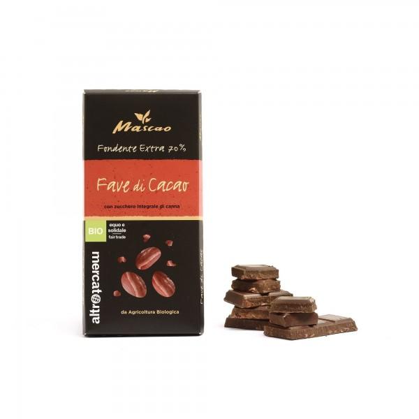Cioccolato Mascao fondente extra con fave cacao 100g ALTROMERCATO
