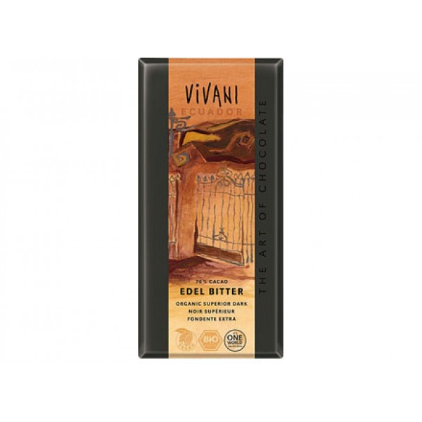 Cioccolato superior dark Equador extra fondente 100g VIVANI