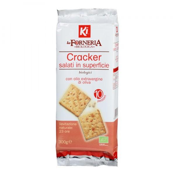 Cracker salati in superficie 300g KI - LA FORNERIA