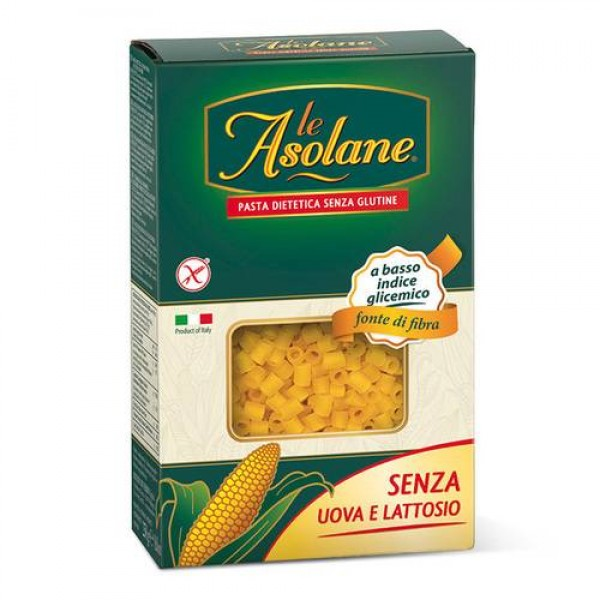 Ditalini di mais senza glutine senza uovo e lattosio 250g Le Asolane