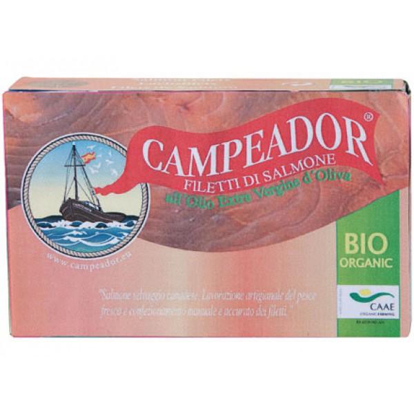 Filetti di salmone in olio extravergine di oliva 120g CAMPEADOR