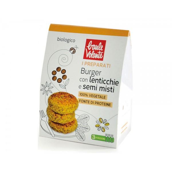 Preparato per burger con lenticchie e semi misti Vegan 180g Baule Volante