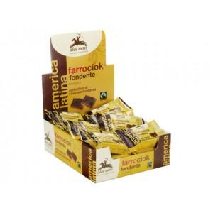 Biscotti al farro ricoperti di cioccolato fondente Farrociock 28g ALCE NERO