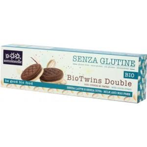 Biscotti Bio Twins Double con crema al cacao senza glutine, senza latte e uova 115g Sottolestelle