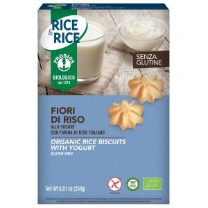 Biscotti fiori di riso  allo yogurt 250g RICE&RICE