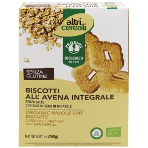 Biscotti Integrali di Avena Senza Glutine 250gr Probios