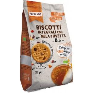 Biscotti Vegani con Mela e Uvetta senza zuccheri aggiunti 300gr Fior di Loto