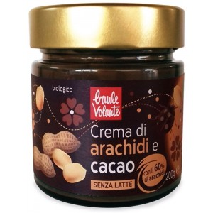 Crema spalmabile di arachidi e cacao vegan 200gr Baule Volante