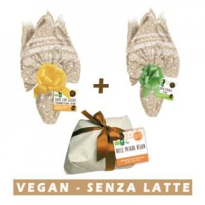 Due Uova Pasqua vegan e Dolce di Pasqua Vegan Probios