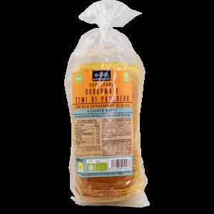 Pane Bauletto di Grano Tenero con Curcuma e Semi di Papavero 400g Sottolestelle