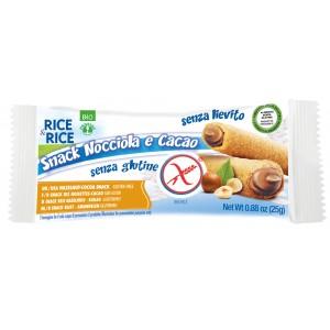 Snack di riso alla nocciola 25g RICE&RICE