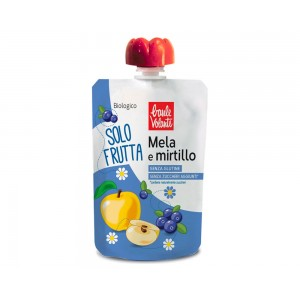 Solo Frutta Mela e Mirtillo 100g Baule Volante