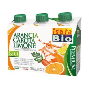 Succo e polpa Premium arancia carota limone 3x200ml ISOLABIO