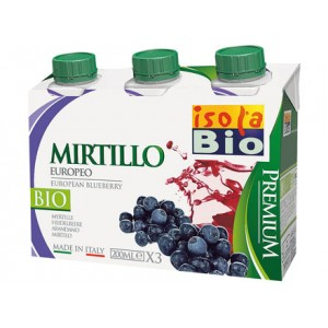Succo e polpa Premium di mirtillo 3x200ml ISOLABIO