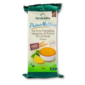 Tortina Paradiso Vegan di Farro al Limone 200gr Verde&Bio