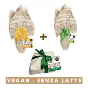 Due Uova Pasqua vegan e Dolce di Pasqua Farro Cioccolato Vegan Probios