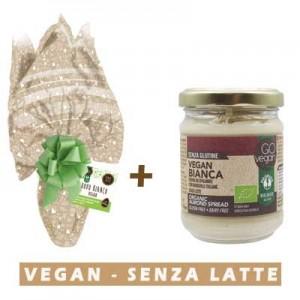 Uovo di Pasqua Vegan con cioccolato Bianco + Crema spalmabile bianca Vegan