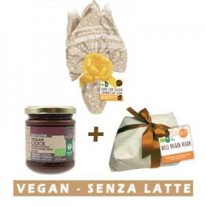 Uovo di pasqua + crema spalmabile vegan ciok + dolce di pasqua vegab