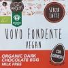 Uovo di pasqua Vegan fondente fronte etichetta