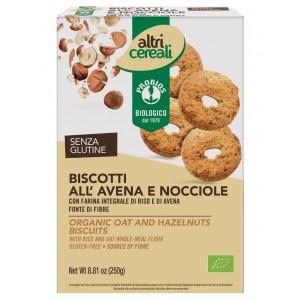 Biscotti all'Avena e Nocciole Senza Glutine 250gr Probios
