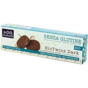 Biscotti Bio Twins Dark con crema vaniglia senza glutine, senza latte e uova 115g Sottolestelle