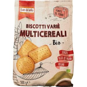 Biscotti Variè Multicereali 500gr Fior di Loto