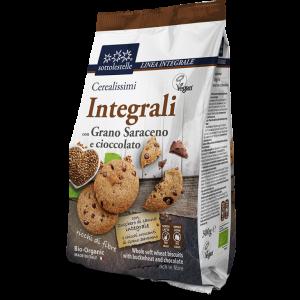 Biscotti Vegani Cerealissimi Integrali con Grano Saraceno e Cioccolato 300gr Sottolestelle