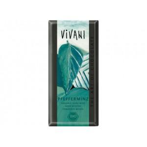 Cioccolato fondente alla menta 100g VIVANI