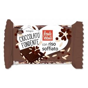 Cioccolato Fondente con Riso Soffiato 25gr Baule Volante