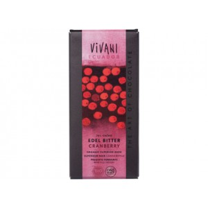 Cioccolato fondente pregiato al 70% con mirtilli rossi 100g VIVANI