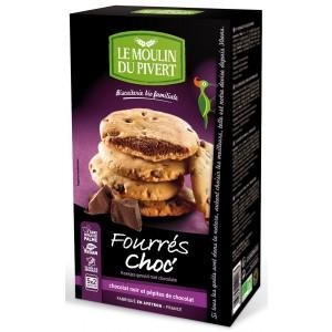 Cookies Ripieni al Ciocolato - Fourrés Choc' 175g - Le Moulin Du Pivert