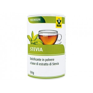 Dolcificante a base di estratto di Stevia in polvere 50g RAAB