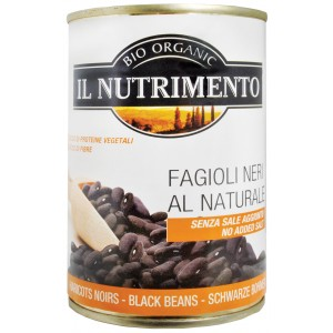 Fagioli neri al naturale 400g IL NUTRIMENTO