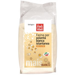 Farina di Mais Bianca per Polenta Istantanea 500gr Baule Volante