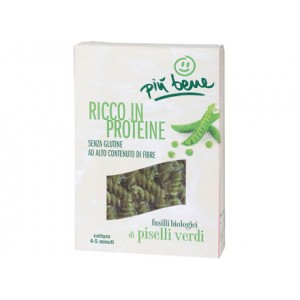 Fusilli di piselli verdi ricchi di proteine senza glutine 250g PIU' BENE