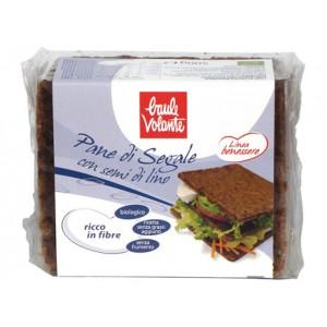 Pane di Segale integrale con semi di lino - Linea Benessere 500g BAULE VOLANTE
