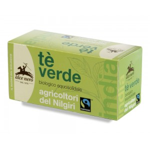 Tè verde biologico fair trade 35g ALCE NERO